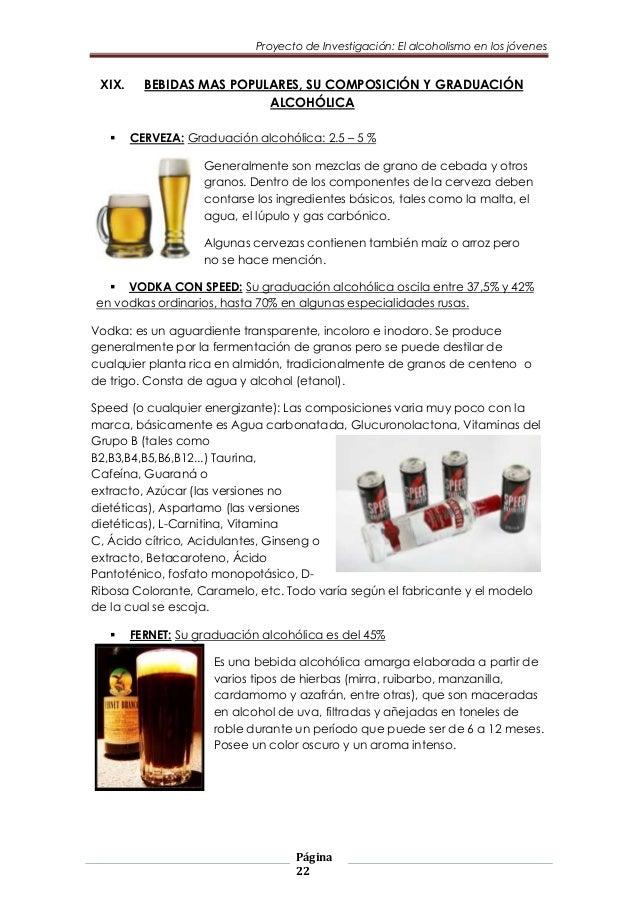 trabajo de investigacion: el alcoholismo en los jovenes