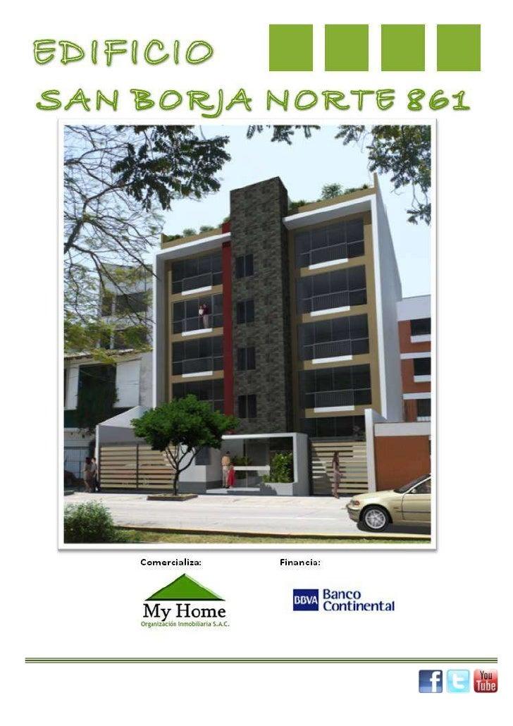 Comercializa:PROYECTO:                                           EDIFICIO SAN BORJA NORTE 861.                            ...