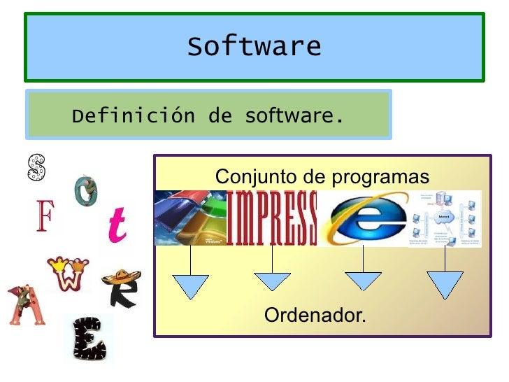 Conjunto de programas Ordenador. Software Definición de  software .