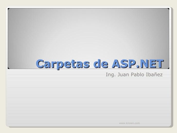 Carpetas De Asp.Net