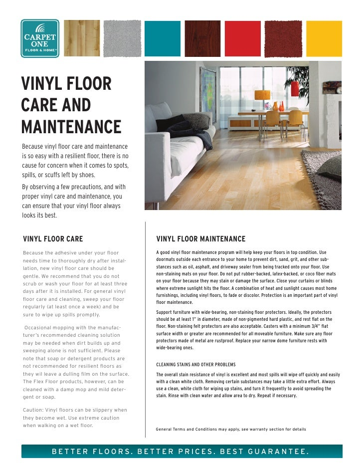 Vinyl Floor Care And Maintenance From Carpet One amp Home