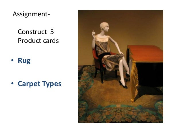 AssignmentConstruct 5 Product cards  • Rug  • Carpet Types