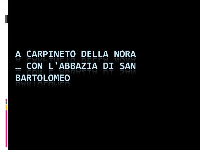 Carpineto della Nora e Voltigno - Abruzzo - di Maria ( 2 ) seconda D