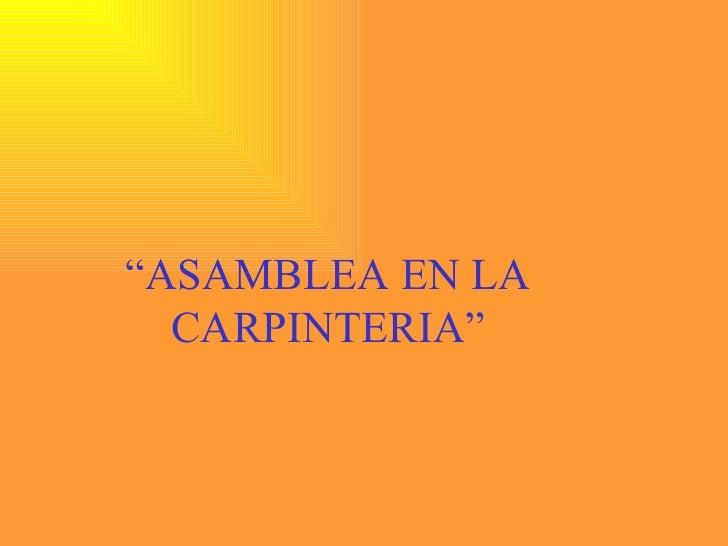 .Carpinteria