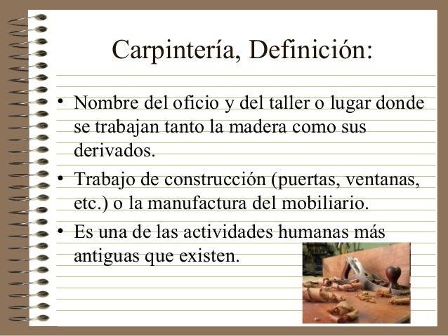 Medio ambiente y carpinteria - Herramientas de carpinteria nombres ...