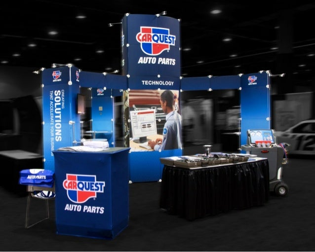Carquest 20x20 trade show booth