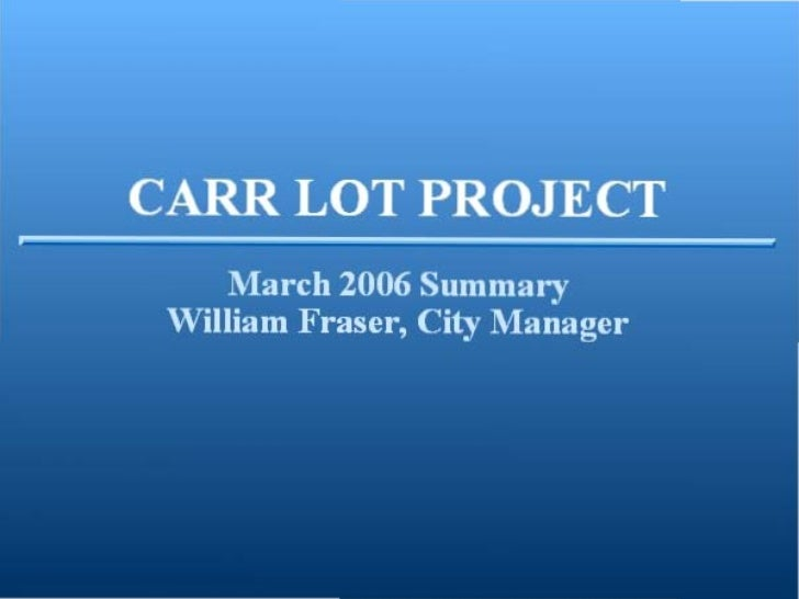Carr lot-slideshow-2006