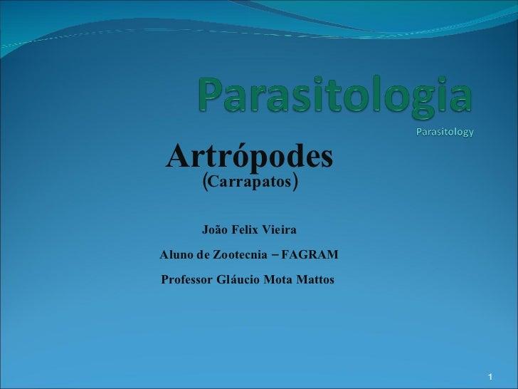 Artrópodes (Carrapatos) João Felix Vieira Aluno de Zootecnia – FAGRAM Professor Gláucio Mota Mattos