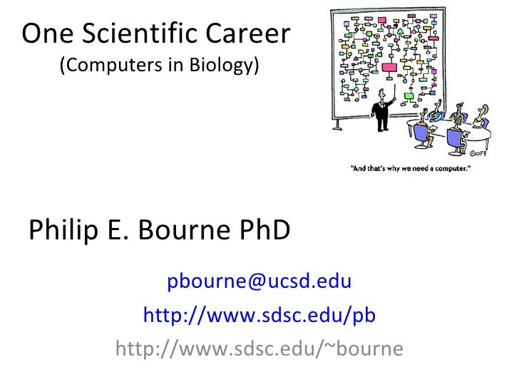 One Scientific Career  (Computers in Biology) Philip E. Bourne PhD [email_address] http://www.sdsc.edu/pb http://www.sdsc....