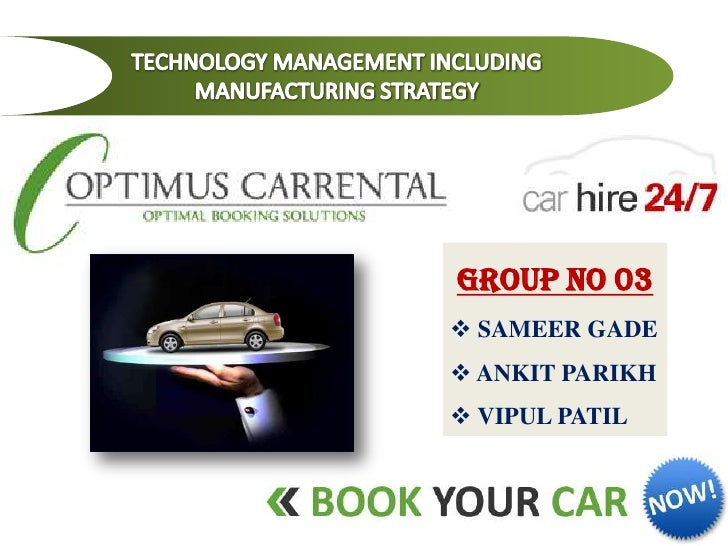 Car rent Business Plan without costing details