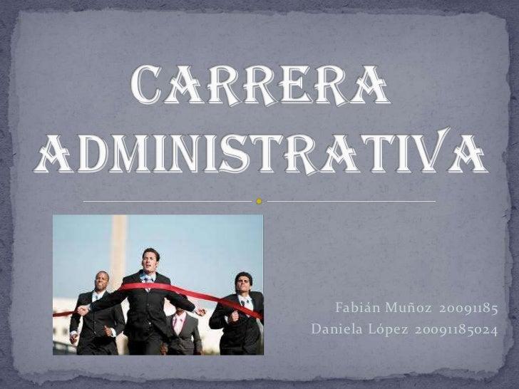 Carrera administrativa