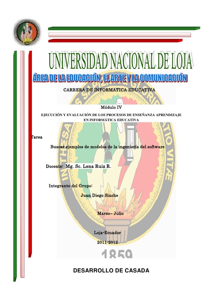 CARRERA DE INFORMATICA EDUCATIVA                                    Módulo IV    EJECUCIÓN Y EVALUACIÓN DE LOS PROCESOS DE...