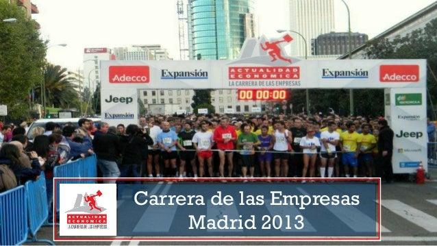 Carrera de las Empresas Madrid 2013 - Información y recorrido