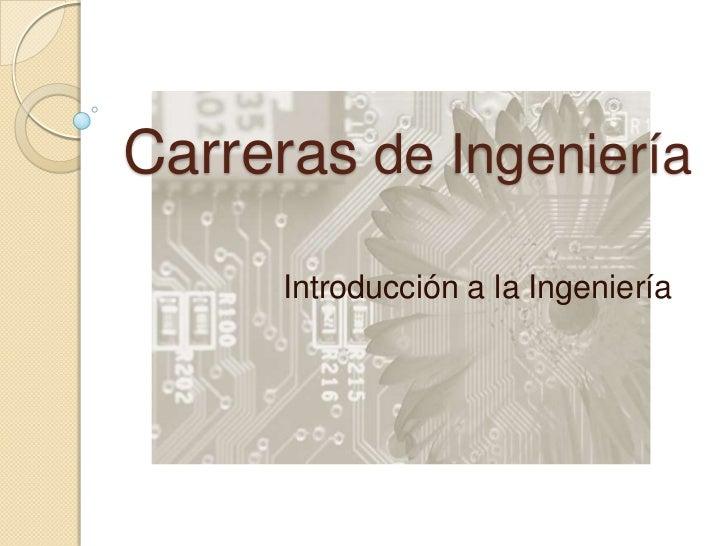 Carreras de ingeniería plan 2009 2 (semestre 2011-1))