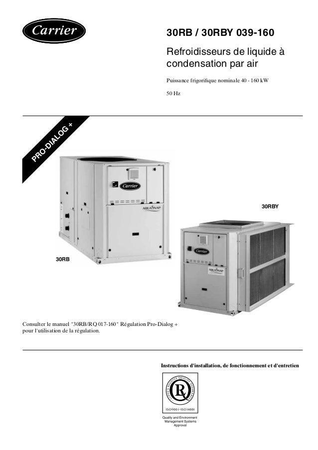 30RB / 30RBY 039-160 Refroidisseurs de liquide à condensation par air Puissance frigorifique nominale 40 - 160 kW 50 Hz In...