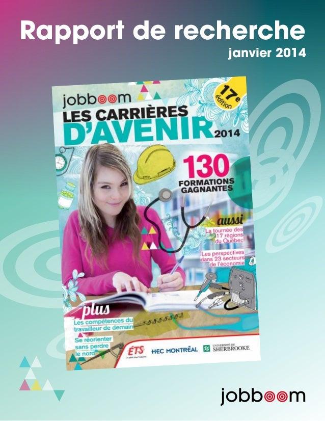 Rapport de recherche janvier 2014