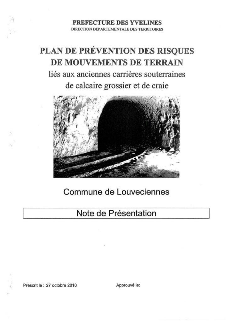 PREFECTURE DES YVELINES                                DIRECTION DEPARTEMENTALE DES TERRITOIRES               PLAN DE PRÉV...