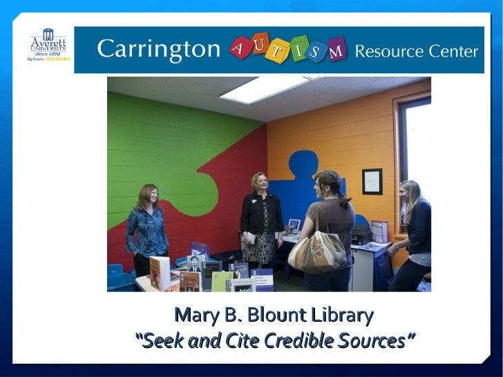 Carrington Autism Resource Center