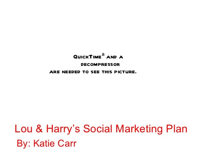 Lou & Harry's Social Marketing Plan  By: Katie Carr