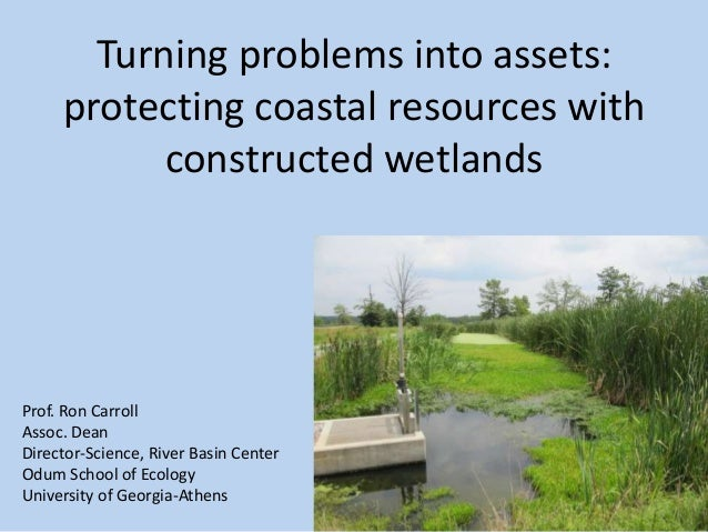 Turning problems into assets:protecting coastal resources withconstructed wetlandsProf. Ron CarrollAssoc. DeanDirector-Sci...
