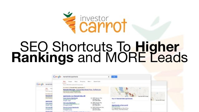 SEO Shortcuts To Higher Rankings and MORE Leads
