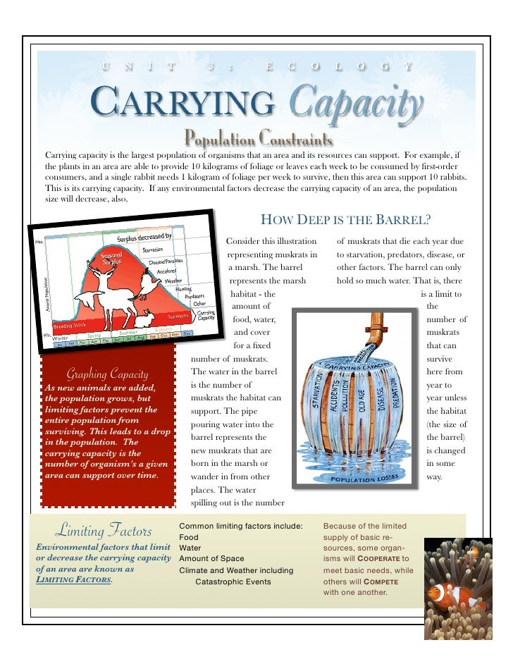 Carrying Capacity Worksheet - Secretlinkbuilding