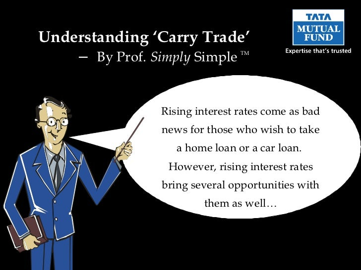 Understanding 'Carry Trade'  –  By Prof.  Simply  Simple  TM Rising interest rates come as bad news for those who wish to ...