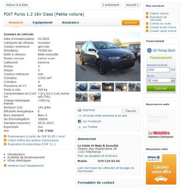 Check-list pour l'achat d'une voiture d'occasion Date : Propriétaire du véhicule / garage : Téléphone : Courriel : Marque ...