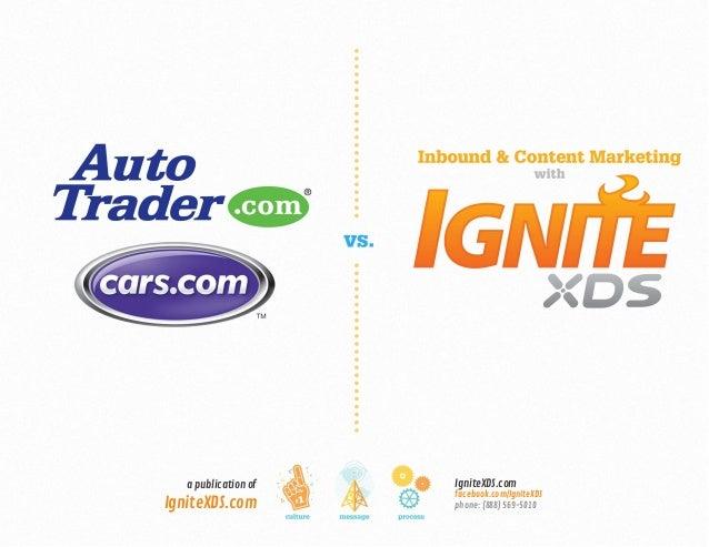 Ignite XDS vs. Cars.com & Autotrader