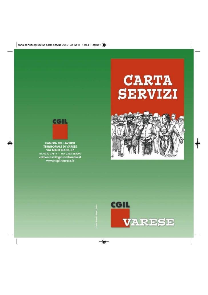 La carta dei servizi della CGIL Varese
