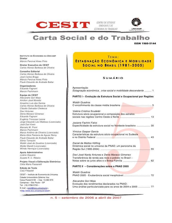 Centro de Estudos                                                                            Sindicais e de               ...