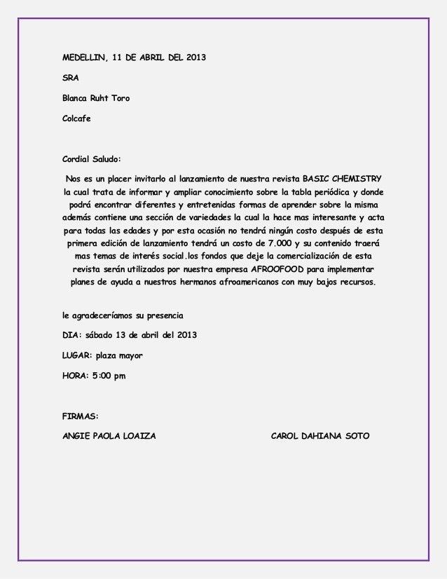 MEDELLIN, 11 DE ABRIL DEL 2013SRABlanca Ruht ToroColcafeCordial Saludo:Nos es un placer invitarlo al lanzamiento de nuestr...