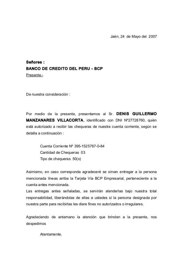 Carta Bcp