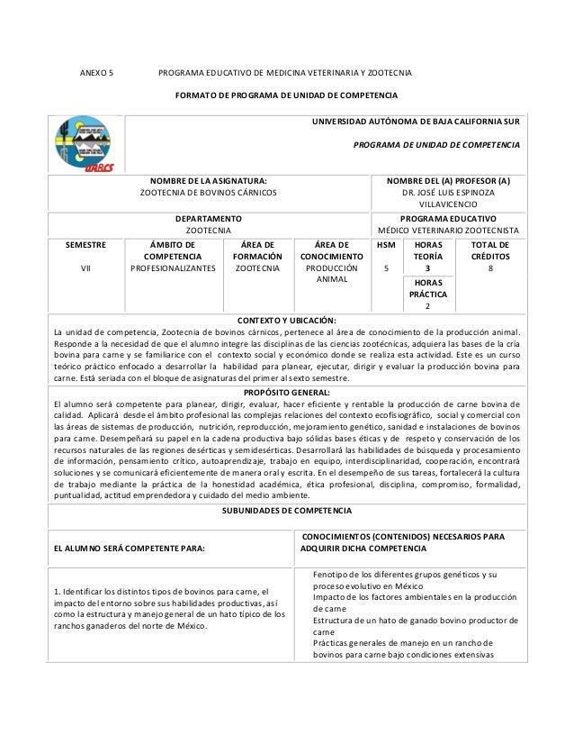 ANEXO 5                     PROGRAMA EDUCATIVO DE MEDICINA VETERINARIA...