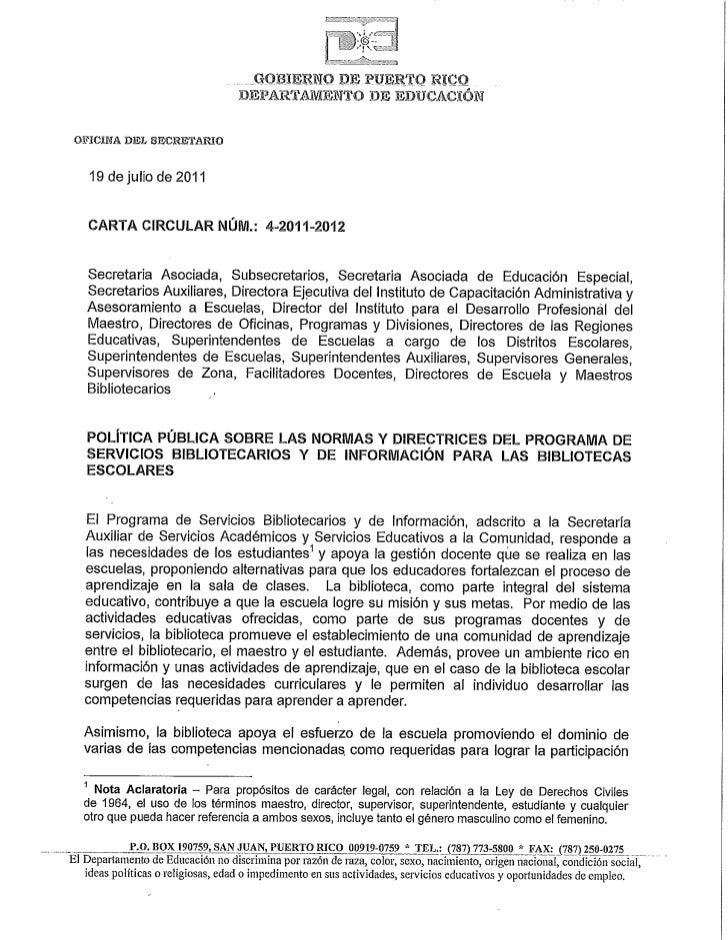Carta Circular #4-2011-2012