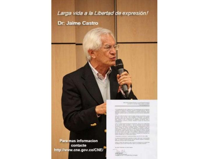 11 Razones para votar por Jaime Castro en las Elecciones 2011
