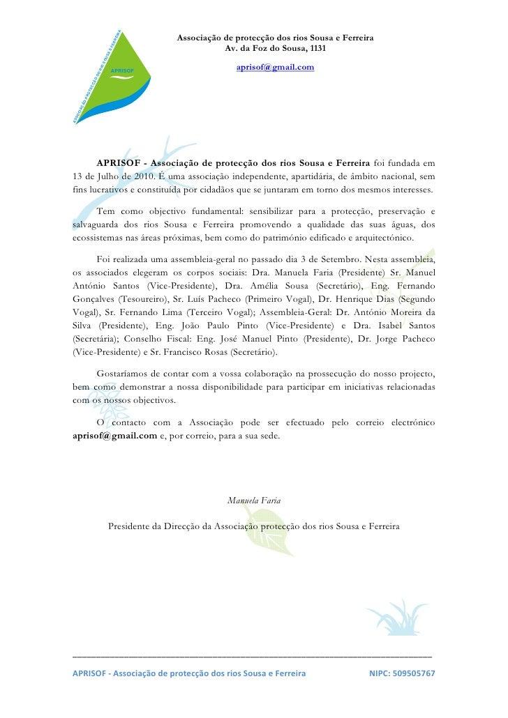 Carta de apresentacao para intercambio