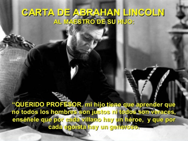 ¡CARTA DE ABRAHAM LINCOLN!
