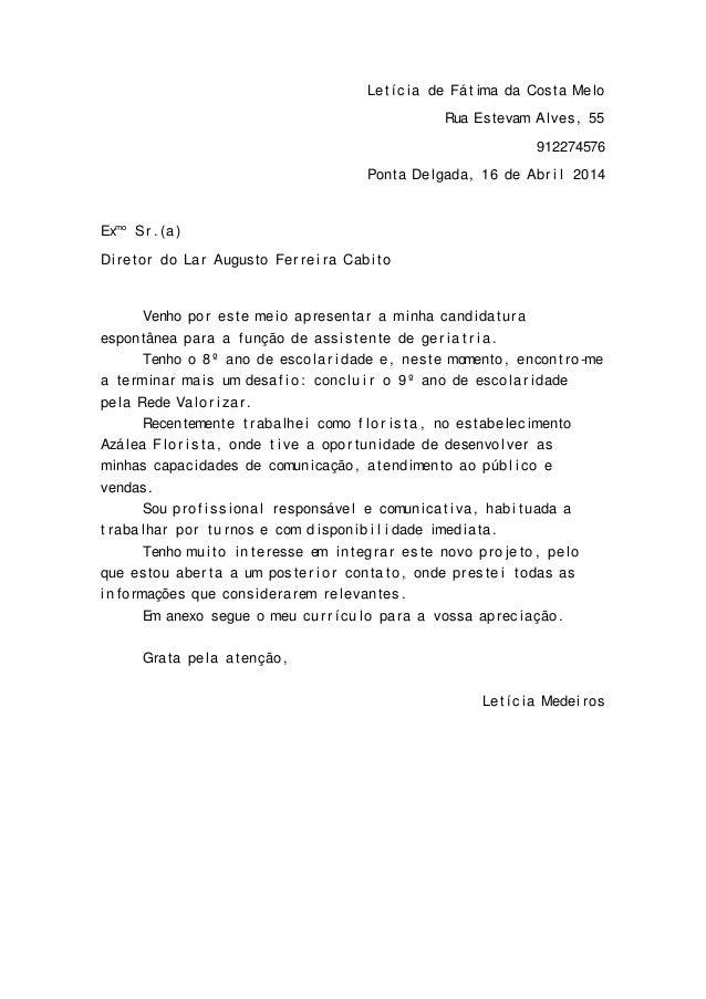 Uma carta de apresentacao