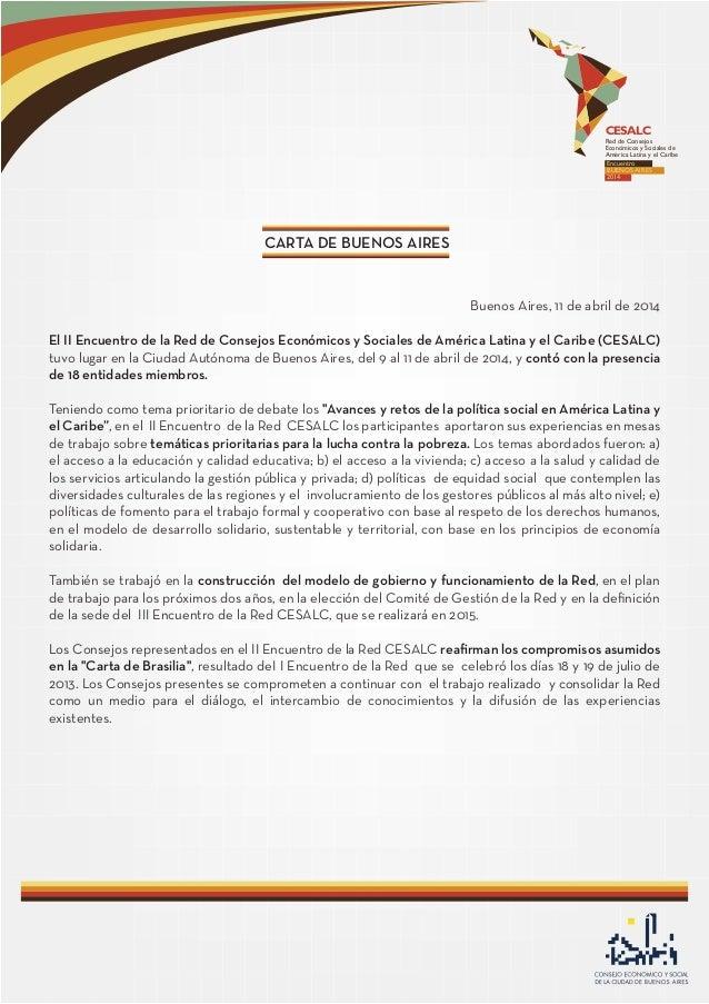 CESALC Red de Consejos Económicos y Socia es de América Latina y el Caribe Encuentro BUENOS AIRES 2014 l Buenos Aires, 11 ...