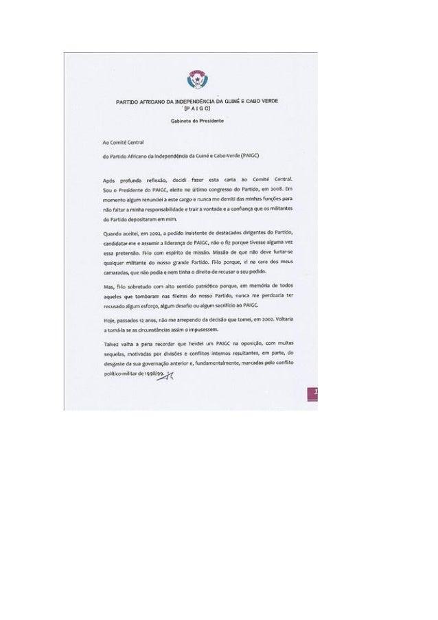 Carta de Carlos Gomes Jr,ao PAIGC.