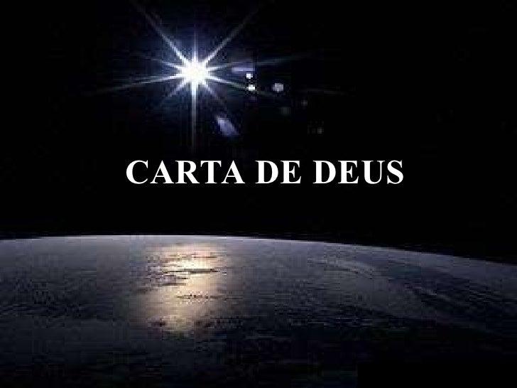 CARTA DE DEUS