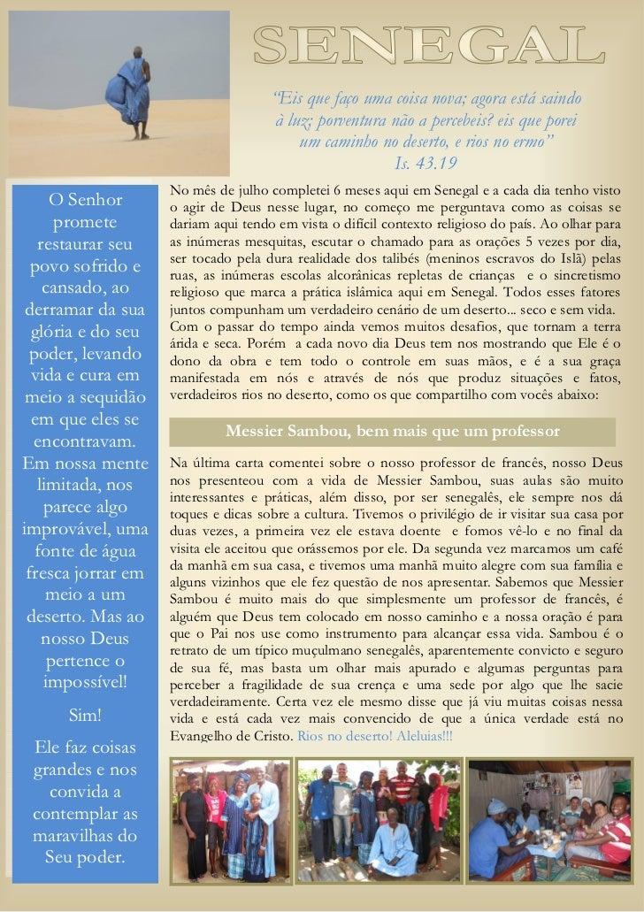 Carta de elcio noticias senegal