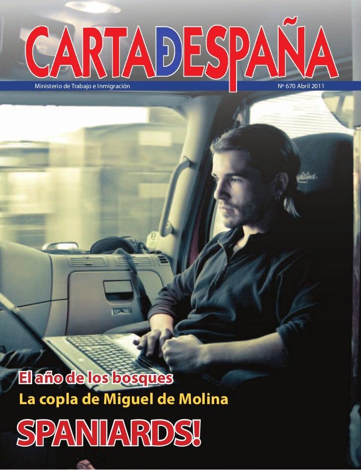 Carta de España Abril 2011