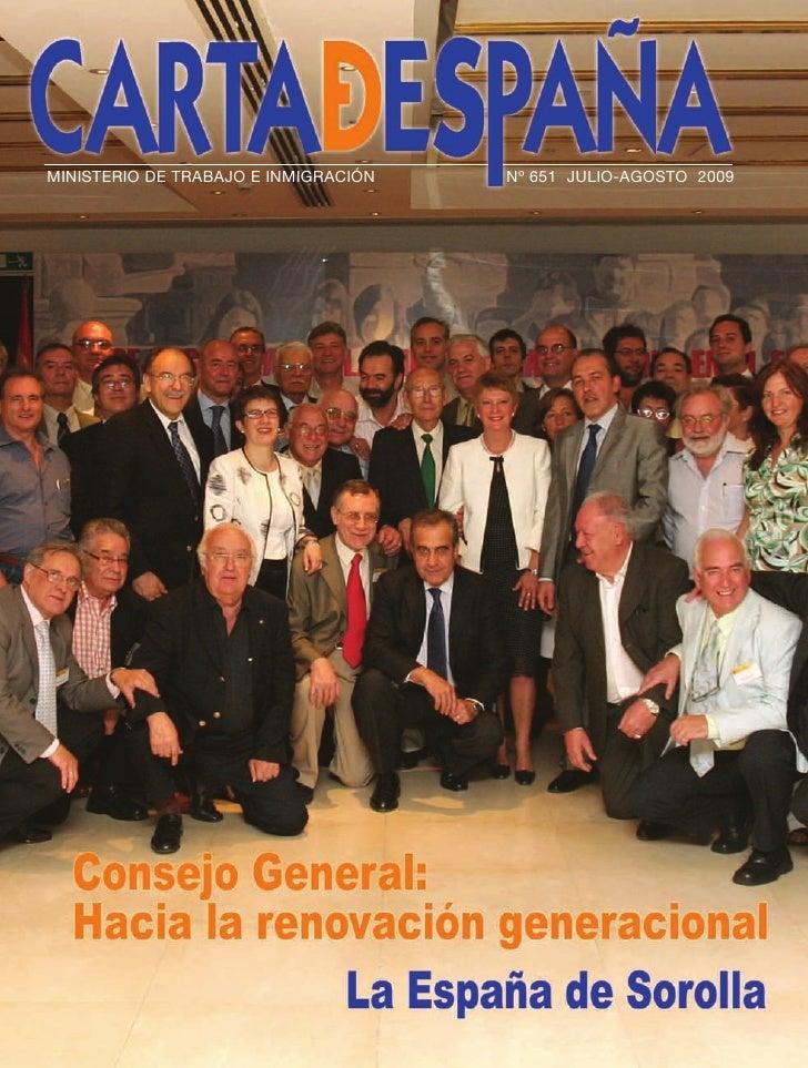 Carta De España Julio - Agosto 2009