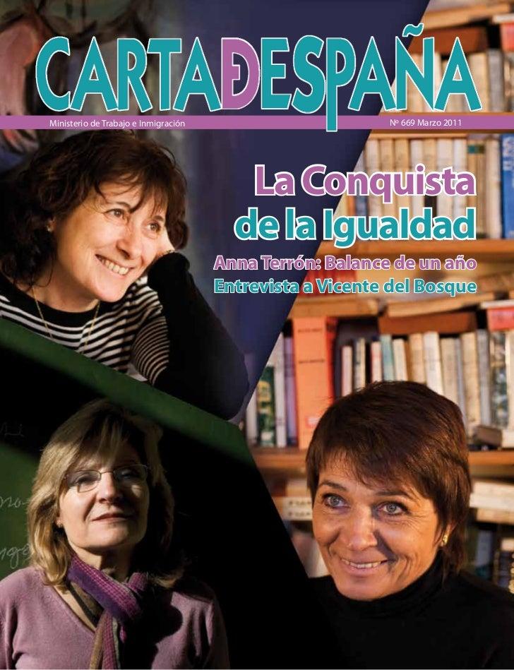 Ministerio de Trabajo e Inmigración                       Nº 669 Marzo 2011                                         La Con...