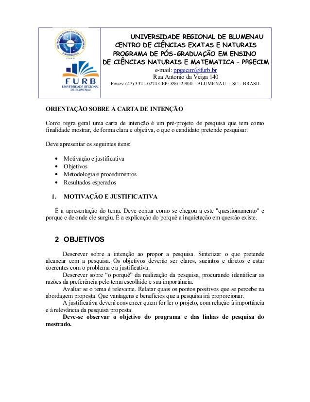 UNIVERSIDADE REGIONAL DE BLUMENAU CENTRO DE CIÊNCIAS EXATAS E NATURAIS PROGRAMA DE PÓS-GRADUAÇÃO EM ENSINO DE CIÊNCIAS NAT...