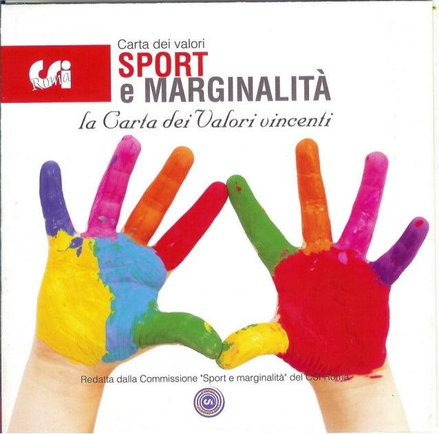 Carta dei valori sport e marginalità
