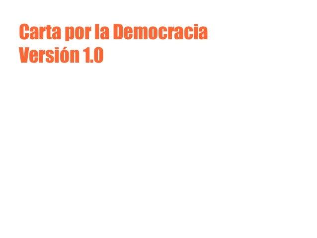 Carta por la Democracia Versión 1.0