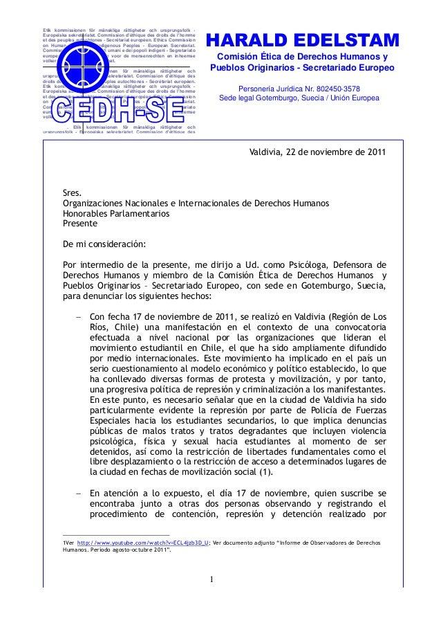 HARALD EDELSTAMEtik kommissionen för mänskliga rättigheter och ursprungsfolk -Europeiska sekretariatet. Commission déthiqu...